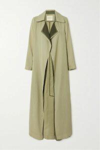 SEA - Rowan Cropped Checked Woven Wide-leg Pants - Gray