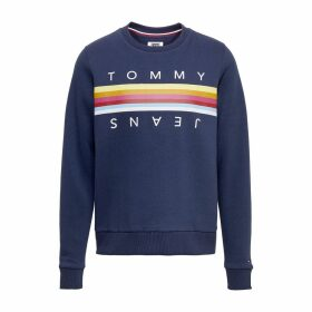 Rainbow Tommy Tape Sweatshirt in Cotton Mix