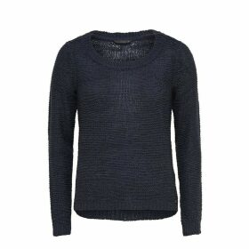 Fine Knit Ribbed Jumper with Boat Neck