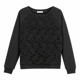 Guipure Laced Sweatshirt