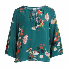 Vimule Milja Printed Blouse with 3/4 Length Sleeves