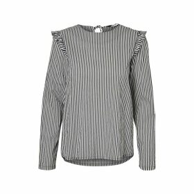 Round Neck Long-Sleeved Blouse