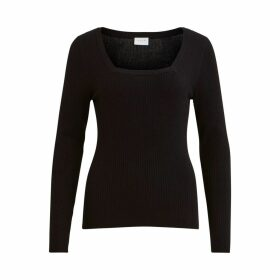 Square Neck Fine Knit Jumper