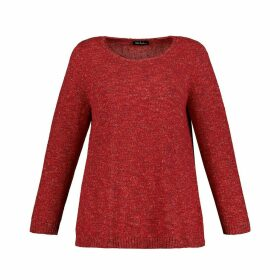 Mouliné Flecked Crew Neck Jumper