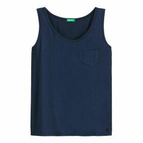 Cotton Vest Top with Crew Neck