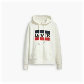 Graphic Sport Slip-On Cotton Hoodie with Logo Print
