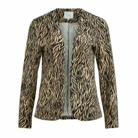 Zebra Print Fitted Blazer