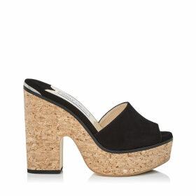 DEEDEE 125 Chaussures compensées en daim noir