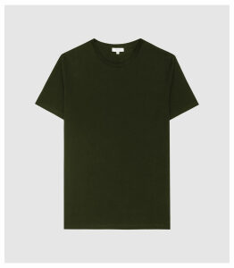 Reiss Bless - Regular Fit Crew Neck T-shirt in Oxidised Green, Mens, Size XXL