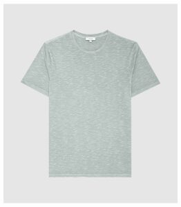 Reiss Kenny - Melange Crew-neck T-shirt in Mint, Mens, Size XXL