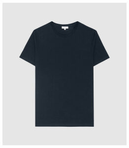 Reiss Bless - Regular Fit Crew Neck T-shirt in Navy, Mens, Size XXL