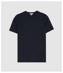 Reiss Byward - Melange Crew Neck T-shirt in Navy, Mens, Size XXL