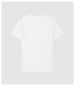 Reiss Beech - Melange Striped T-shirt in Grey, Mens, Size XXL