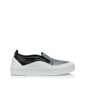 CHOO V.B.C SLIP ON/F Baskets sans lacets en étoffe à paillettes fines noires et multicolores
