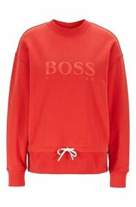 Relaxed-fit sweatshirt in cotton terry with 3D logo