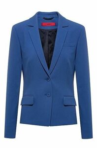 Regular-fit jacket in stretch fabric with pocket details