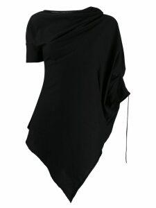 Masnada deconstructed tunic blouse - Black