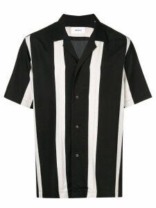 Ports V striped button-up shirt - Black