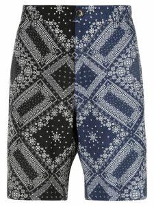 Ports V two-tone bandana shorts - Black