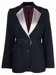Sies Marjan Terry pinstripe belted blazer - Blue