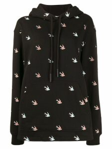 McQ Alexander McQueen all-over swallow hoodie - Black