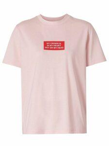 Burberry Montage Print Cotton T-shirt - PINK