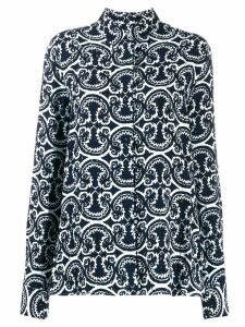 Jil Sander printed loose fit shirt - Blue