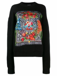 Versace Jeans Couture floral print sweater - Black