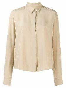 Jil Sander relaxed-fit silk shirt - Neutrals
