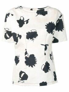 Marni floral blouse - White