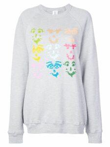 Rosie Assoulin graphic print sweatshirt - Grey