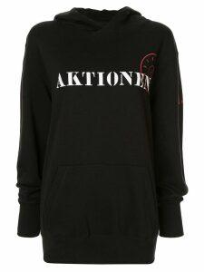 A.F.Vandevorst printed hoodie - Black