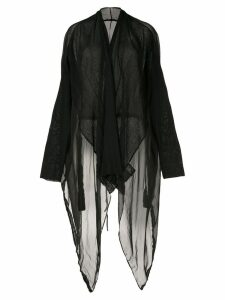 Masnada long sheer cardigan - Black