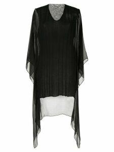 Masnada sheer panel draped top - Black