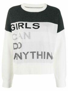 Zadig & Voltaire Nell intarsia slogan sweater - Black