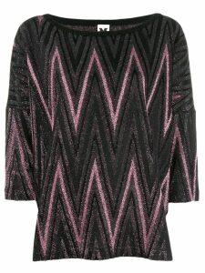 M Missoni metallic knitted top - PINK