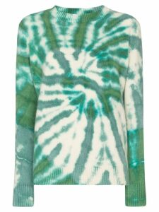 The Elder Statesman Tes tie-dye cashmere jumper - GREEN