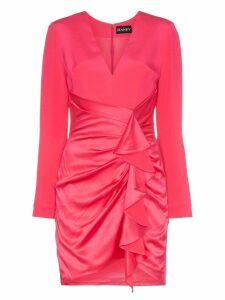 Haney Lilly ruffled mini-dress - PINK