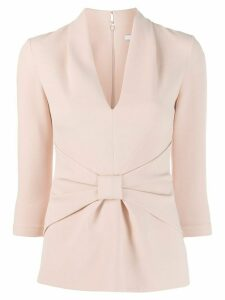 Safiyaa London gathered front blouse - Pink