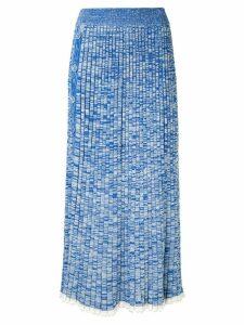 Christopher Esber pleated skirt - Blue