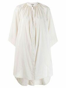 Jil Sander pinstripe oversized shirt - White
