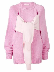 Christopher Kane octopus crew neck knit - PINK