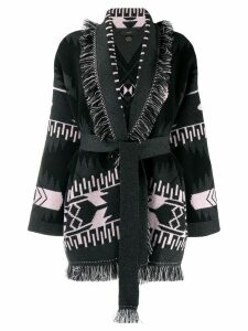 Alanui chunky knit cardigan - Black