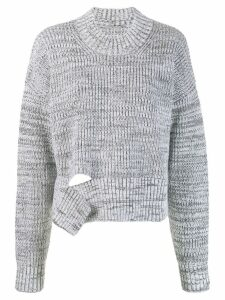 Maison Margiela deconstructed chunky knit sweater - Grey