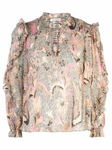 Ulla Johnson floral blouse - NEUTRALS