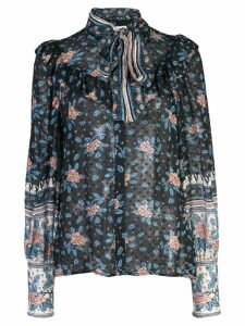 Ulla Johnson floral blouse - Blue