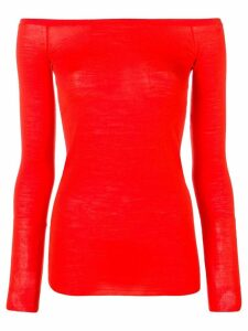 Stella McCartney boat neck knit top - ORANGE
