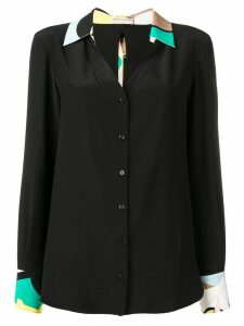 Emilio Pucci silk sash ties shirt - Black