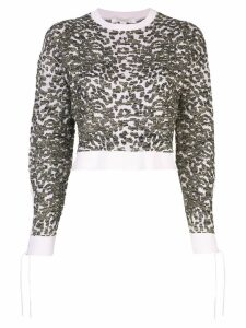 Jonathan Simkhai leopard pattern sweater - Purple