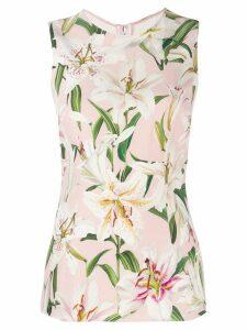 Dolce & Gabbana floral vest top - PINK